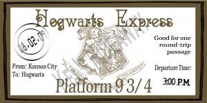 Custom WIZARD Train Ticket Party INVITATIONS Uprint