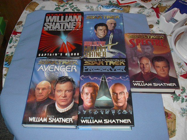 STAR TREK  5 Bks by William Shatner