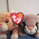 Beanie Babies Canyon & Amber