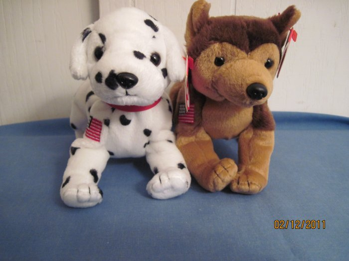 Beanie Babies Dogs Courage & Rescue