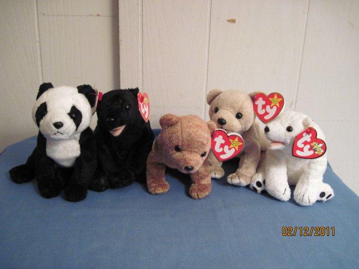 Beanie babies Almond, Pecan, China, Auraru, Cinders