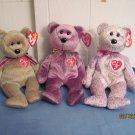 Beanie Babies Signature Bears 1999,2000, 2001