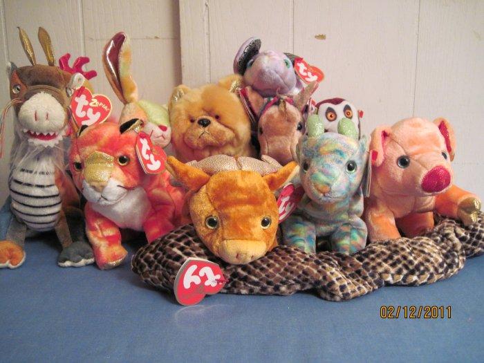 Beanie babies Zodiac collection