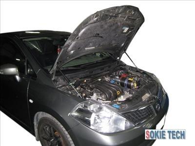 06 07 08 Nissan TIIDA C11 4dr 5dr Gas Shock Hood Damper e1