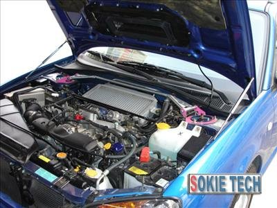 Subaru Impreza GDB F GDBF Carbon Fiber Gas Hood Damper k2