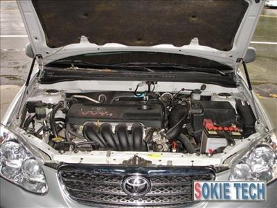 02~07 Toyota Corolla Altis Carbon Fiber Gas Hood Damper e9