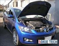 08 09 Mazda CX7 CX-7 Carbon Fiber Gas Hood Shock Damper h3