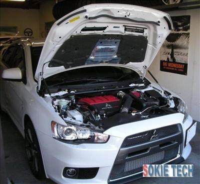 2009 Mitsubishi Lancer EVO 10 Carbon Fiber Hood Damper i4
