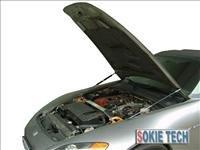92~95 Honda Civic EG Silver Carbon Fiber Hood Damper a1