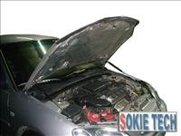 96~00 Honda Civic EK Silver Carbon Fiber Hood Damper a2