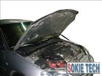 98~02 Honda Accord Silver Carbon Fiber Hood Damper a6