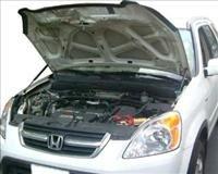 94~01 Honda CR-V CRV Silver Carbon Fiber Hood Damper b2