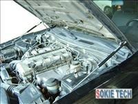 02~06 Honda CR-V CRV Silver Carbon Fiber Hood Damper b3