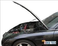 93~97 Mazda RX7 FD Silver Carbon Fiber Shock Damper g3