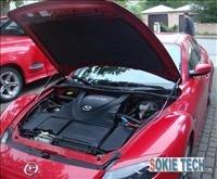 03~09 Mazda RX8 Silver Carbon Fiber Gas Hood Damper g5