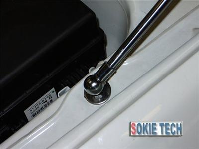 Mit. Lancer EVO 1 2 3 Silver Carbon Fiber Hood Damper h7