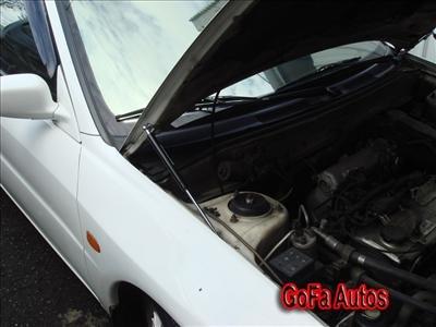 Lancer EVO 1 2 3 Silver Carbon Hood Carbon Fiber Damper h8