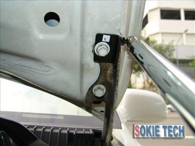 93~97 Toyota Corolla Silver Carbon Fiber Hood Damper e7