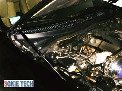 93 ~ 98 Toyota Supra Silver Carbon Fiber Hood Damper f5