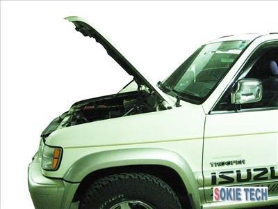 Isuzu Trooper & Acura Silver Carbon Fiber Hood Damper k6