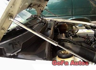 93~06 Volkswagen VW Silver Carbon Fiber Gas Hood Damper j5