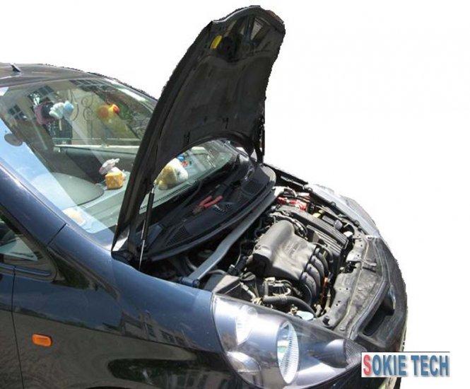 01~07 Honda Fit / Jazz Black Carbon Fiber Hood Damper b7