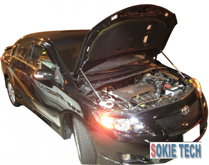 08 09 Toyota Corolla Altis Carbon Fiber Hood Damper f9