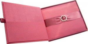 Embellished Silk Wedding Invitation Boxes