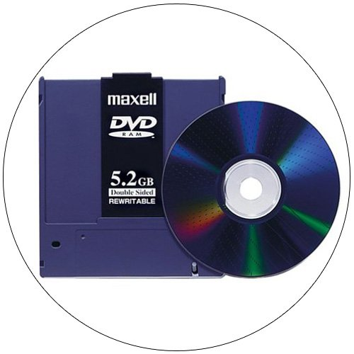 Maxell 636050 DVD 5.2GB Double-Sided Rewritable Disk (1-Pack)