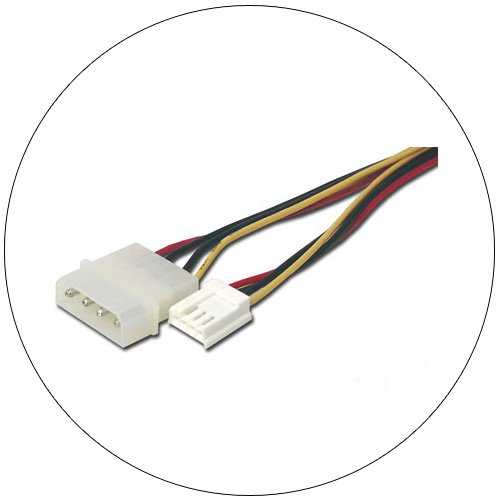 "5.25"" to 3.5"" Power Supply Adapter Cable - 6"" - No. FLT-3600-06"