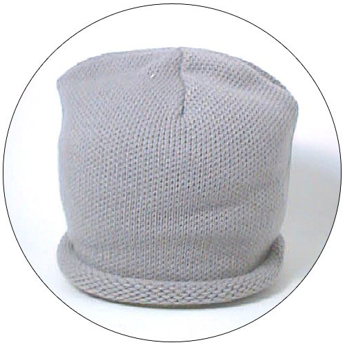 Hat - Plain Knit - Gray