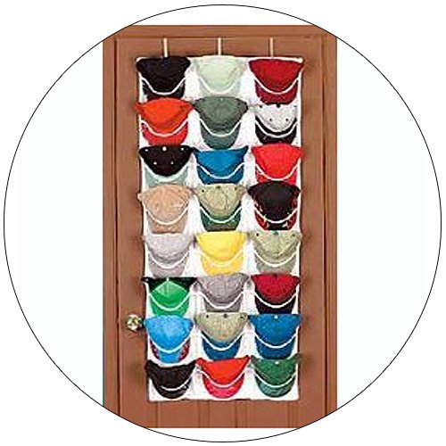Perfect Over The Door 24 Piece Cap Organizer