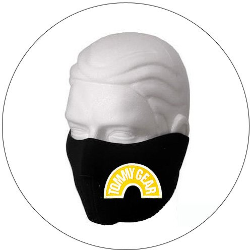 "Half Face Ski Mask - ""Tommy Gear"" Black w/ Yellow Glow-N-Dark - Hiking, Running, Cycling, etc."