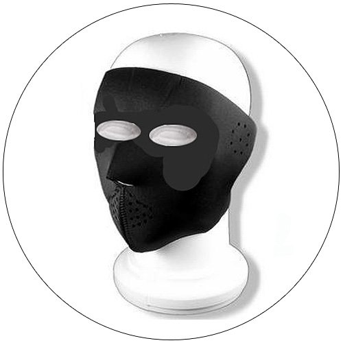 Full Face Ski Mask - Solid Black - Nylon & Velcro - Hiking, Running, Cycling, etc.
