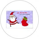 "Cute Snow Santa Greeting Postcards: ""Yo, Ho Ho Ho"" 12 Ct. - No. MGC231CC - mjZOOM"