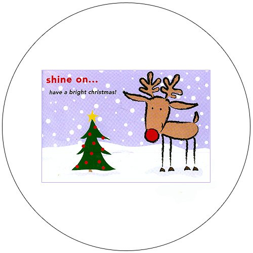 "Cute Raindeer Greeting Postcards: ""Shine On"" 12 Ct. - No. MGC232CC - mjZOOM"