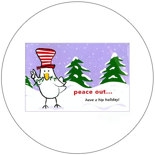 "Cute Snow Bird Greeting Postcards: ""Peace Out"" 12 Ct. - No. MGC233CC - mjZOOM"