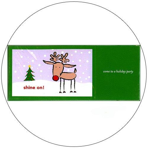 "Cute Raindeer Greeting Invitation Postcards: ""Shine On!"" 12 Ct. - No. MGC201CC - mjZOOM"