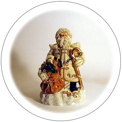 Old World Santa Claus - Creame Outfit w/ Gold Embellishments