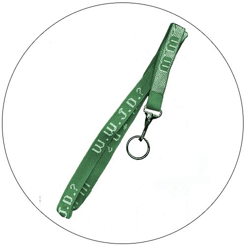 "WWJD Key / Neck Lanyard Chain - HUNTER GREEN - 3/4"" x 20"""