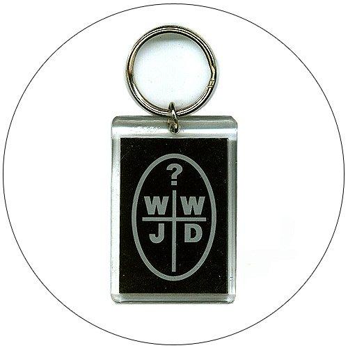 WWJD Lucite Keychain