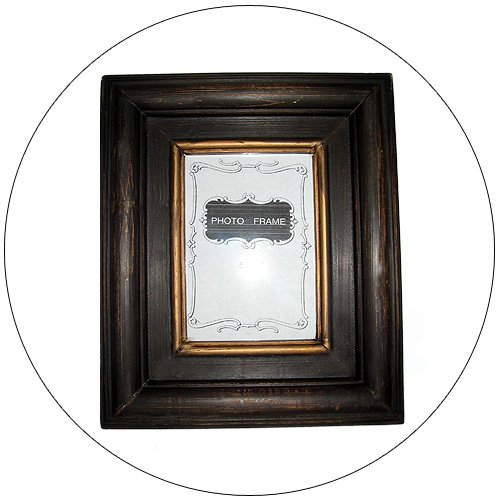 """Rustic Design Stained Pine Photo Frame - 5"""" x 7"""" Photo Area"""
