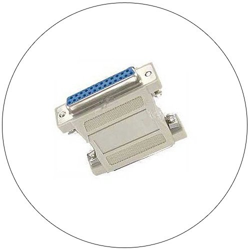 Port Saver Adapter - Serial / Parallel Gender Changer - DB25 Male - DB25 Male