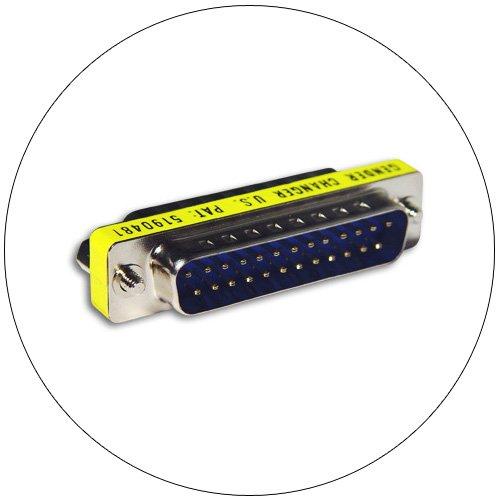 Gender Changer - Mini - Serial - DB 25 Pin Male - DB 25 Pin Male