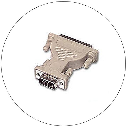 Gender Changer Adapter - Serial - DB9 Male - DB25 Female