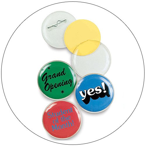 Clear Photo Buttons - 1-1/4 Inch - 70 Pack - Snap-In Safety Pin Style Clasp Back LAST ONES!