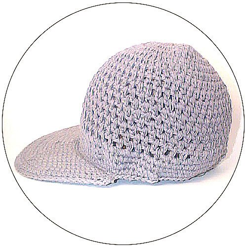Cotton Knit Hat w/ Brim - Grey