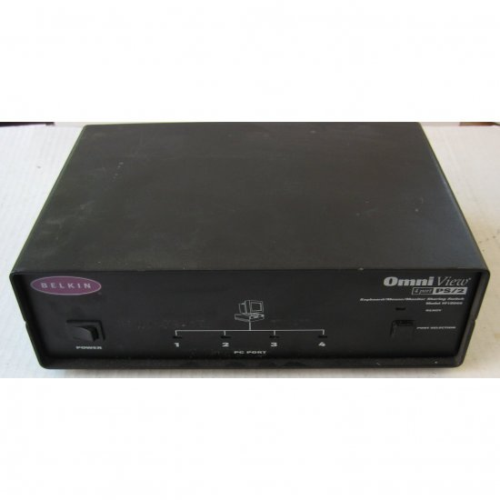 Belkin OmniView 4 Port KVM PS/2 Sharing Switch - No. F1D066 - (Preowned - Very Good)