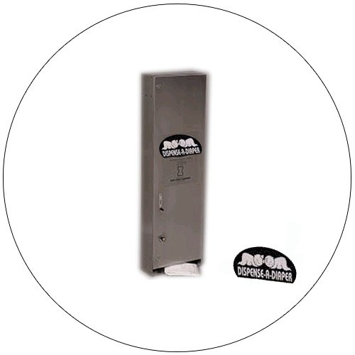 Dispense-A-Diaper Vending Machine - SSC - No. SSC-4111 - Stainless Steel
