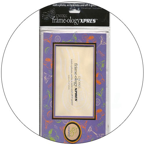 Frameology Picture Frame Mailer with Envelope - Cheers! - Purple